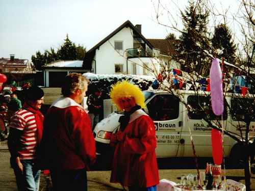 Karneval 2001 in Birlinghoven - Besuch aus Le Crotoy