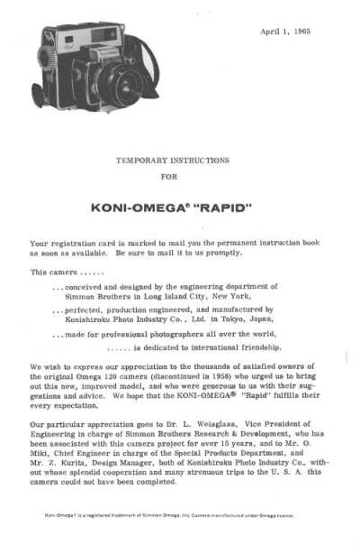 Koni-Omega Rapid Temporary Instructions (page1)